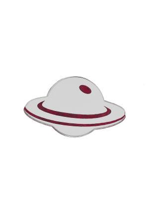 Брошь Сатурн НечегоНадеть. Цвет: серебристый, розовый