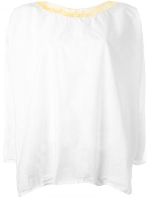 Embroidered collar longsleeved shirt Daniela Gregis. Цвет: белый