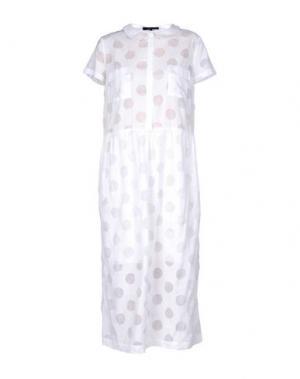 Длинное платье POUSTOVIT. Цвет: белый