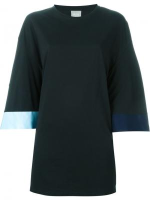 Платье-кимоно Minki Cheng. Цвет: чёрный