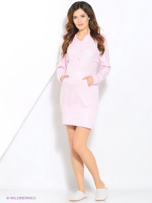 Платье домашнее для беременных Hunny Mammy. Цвет: розовый