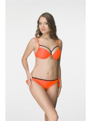 Купальный костюм FIANETA. Цвет: оранжевый