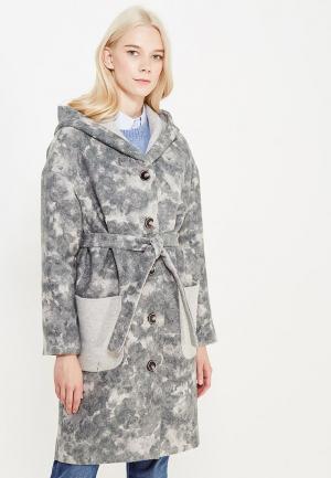 Пальто MARI VERA. Цвет: серый