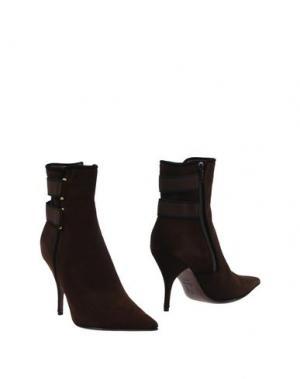 Полусапоги и высокие ботинки ERNESTO ESPOSITO. Цвет: темно-коричневый