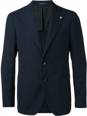 Пиджак на двух пуговицах Tagliatore. Цвет: синий