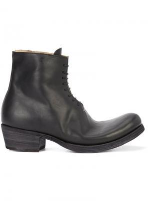 Ботинки на шнуровке Ma+. Цвет: чёрный