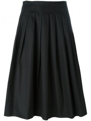 Плиссированная юбка Vince. Цвет: чёрный