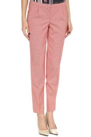 Зауженные брюки с застежкой на молнию YARMINA. Цвет: красный