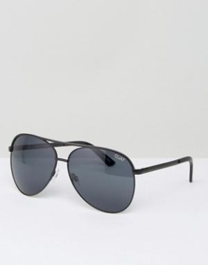 Quay Australia Солнцезащитные очки-авиаторы Vivienne. Цвет: черный