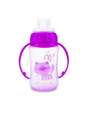 Поильник обучающий с силиконовым носиком и ручками, 320 мл. 6+ Canpol babies. Цвет: розовый