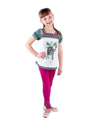 Комплект одежды Апрель. Цвет: розовый, белый, синий, зеленый
