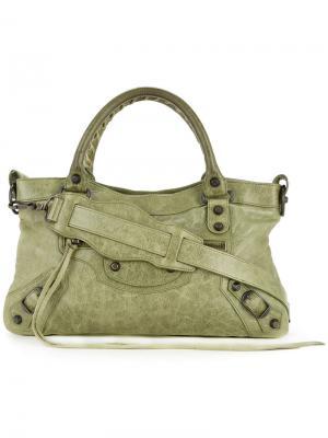 Сумка-тоут  First 2-Way Balenciaga Vintage. Цвет: зелёный