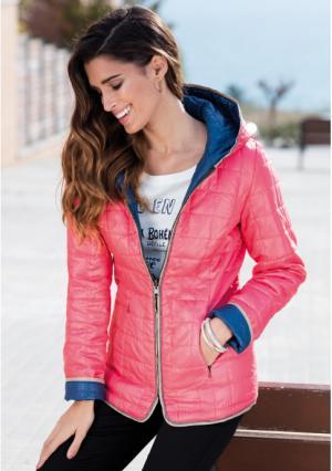 Куртка Venca. Цвет: розовый (ярко-розовый)