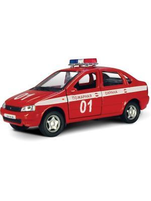 Машина LADA KALINA пожарная охрана AUTOTIME. Цвет: красный