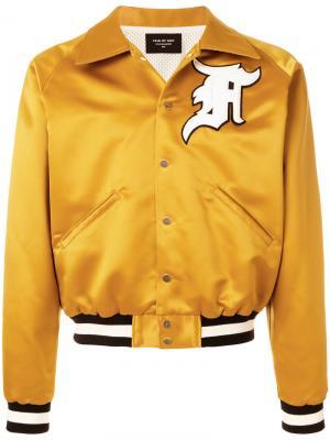 Varsity bomber jacket Fear Of God. Цвет: жёлтый и оранжевый
