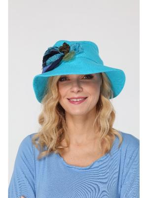 Шляпа Lak Miss. Цвет: бирюзовый