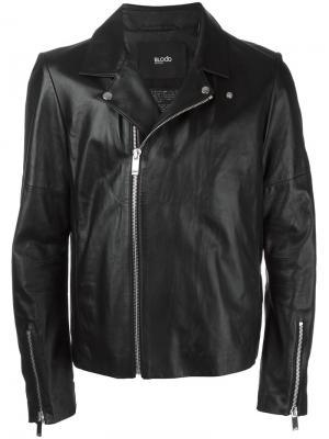 Байкерская куртка на молнии Blood Brother. Цвет: чёрный
