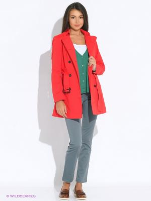 Плащ United Colors of Benetton. Цвет: красный
