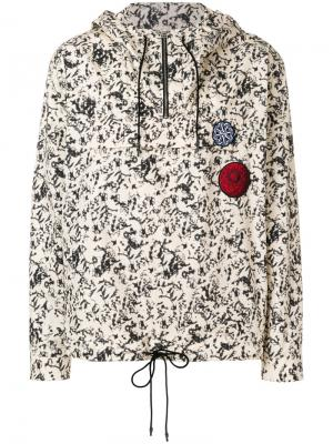 Printed hooded windbreaker Cédric Charlier. Цвет: телесный