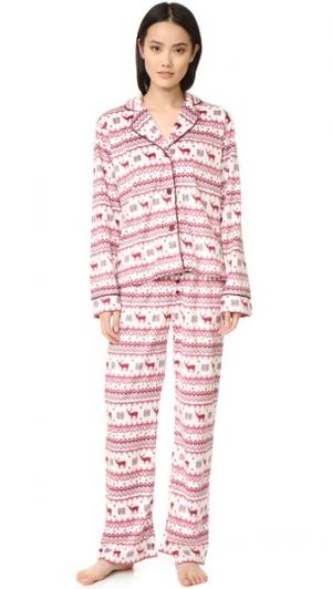 Пижама Nordic Nostalgia PJ Salvage. Цвет: коричневый