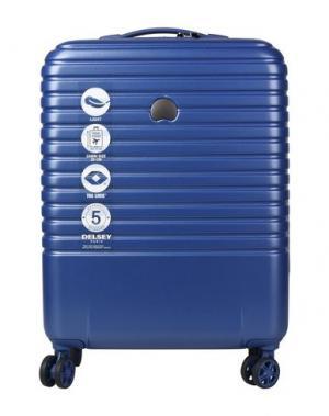 Чемодан/сумка на колесиках DELSEY. Цвет: ярко-синий