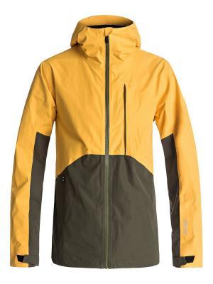 Куртка Quiksilver. Цвет: желтый, темно-серый
