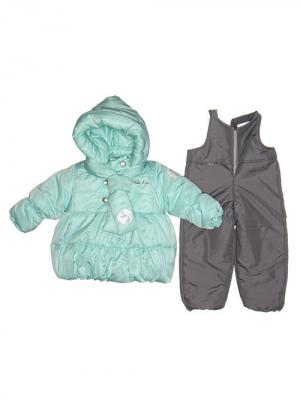Куртка, полукомбинезон MaLeK BaBy. Цвет: бирюзовый