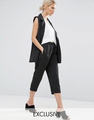 Zacro Укороченные брюки от комплекта. Цвет: черный