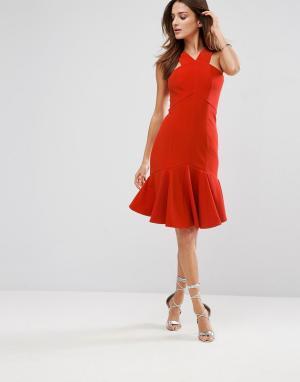 Forever Unique Платье. Цвет: красный