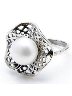 Кольцо Лаватера жемчуг Револю. Цвет: белый