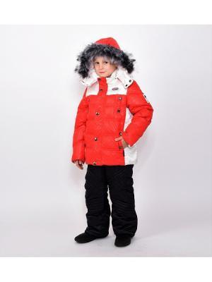 Куртка+брюки для мальчиков TOPKLAER. Цвет: белый, красный