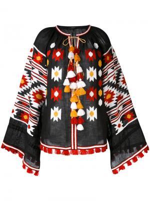 Блузка с вышивкой Vita Kin. Цвет: чёрный