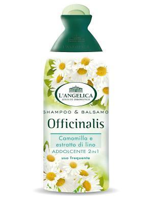 Шампунь-кондиционер 2 в 1для частого использования с экстрактами ромашки и семян льна  250 мл L'Angelica. Цвет: белый
