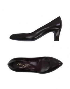 Туфли F.LLI BRUGLIA. Цвет: темно-коричневый