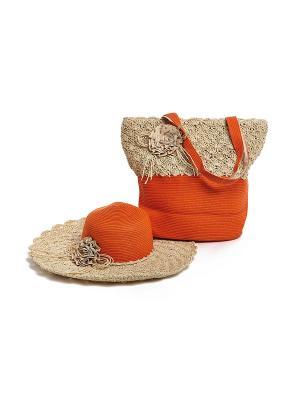 Комплект Moltini. Цвет: оранжевый, бежевый