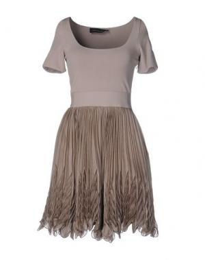 Короткое платье ANTONINO VALENTI. Цвет: серый