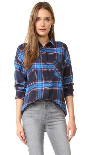 Фланелевая рубашка с пуговицами Jackson RAILS. Цвет: черный/лазурный
