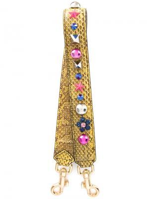 Декорированная лямка на плечо Dolce & Gabbana. Цвет: жёлтый и оранжевый