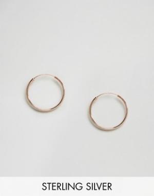 Kingsley Ryan Серьги-кольца. Цвет: золотой