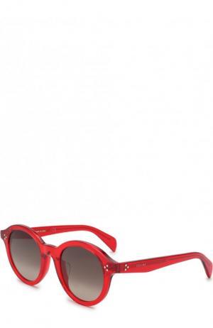 Солнцезащитные очки Céline Eyewear. Цвет: красный
