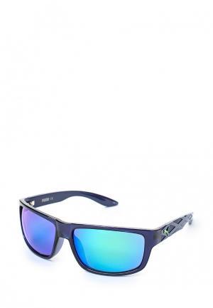 Очки солнцезащитные Puma. Цвет: синий