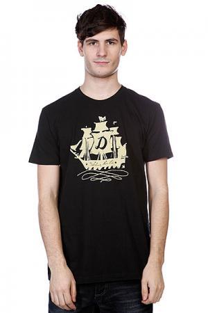 Футболка  Sailin On Black Dekline. Цвет: черный