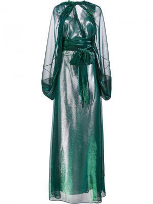 Длинное платье с отливом Maison Margiela. Цвет: металлический