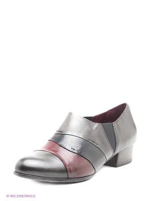 Ботинки Tamaris. Цвет: серый, бордовый, темно-серый