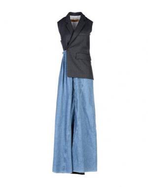 Длинное платье GOLDEN GOOSE DELUXE BRAND. Цвет: стальной серый