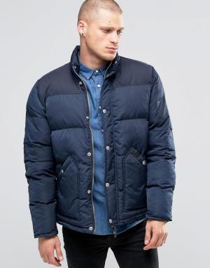 Fat Moose Стеганая куртка Canada. Цвет: темно-синий