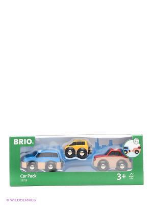 BRIO 3 деревянные машинки с магнитами  33759. Цвет: синий