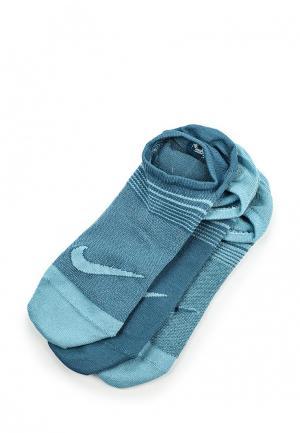 Комплект носков 3 пары Nike. Цвет: синий