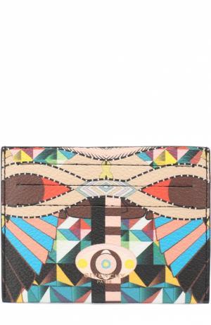 Кожаный футляр для кредитных карт с принтом Givenchy. Цвет: разноцветный