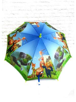 Зонт NeKi. Цвет: светло-зеленый, серо-голубой